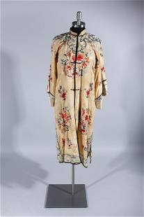 Chinese Embroded Silk Robe