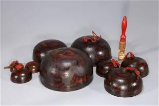 Set of Chinese Bronze Singing Bells