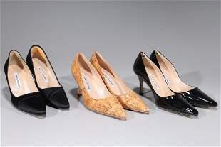 Lot Of Three Pairs Manolo Blahnik Shoes - 38/8B