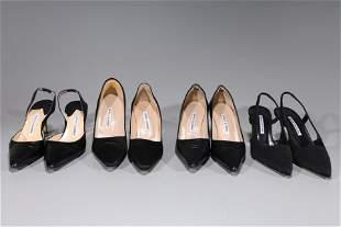 Lot of Four Pairs Manolo Blahnik Shoes - 38/8B
