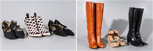 Lot Of Six Pairs Of Designer Shoes - Size 8/38