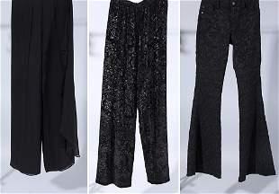 Lot Of Three Black Designer Trousers