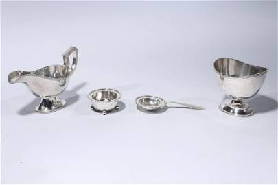 Three Piece Lot Of Chinese Sterling Silver Tea Service