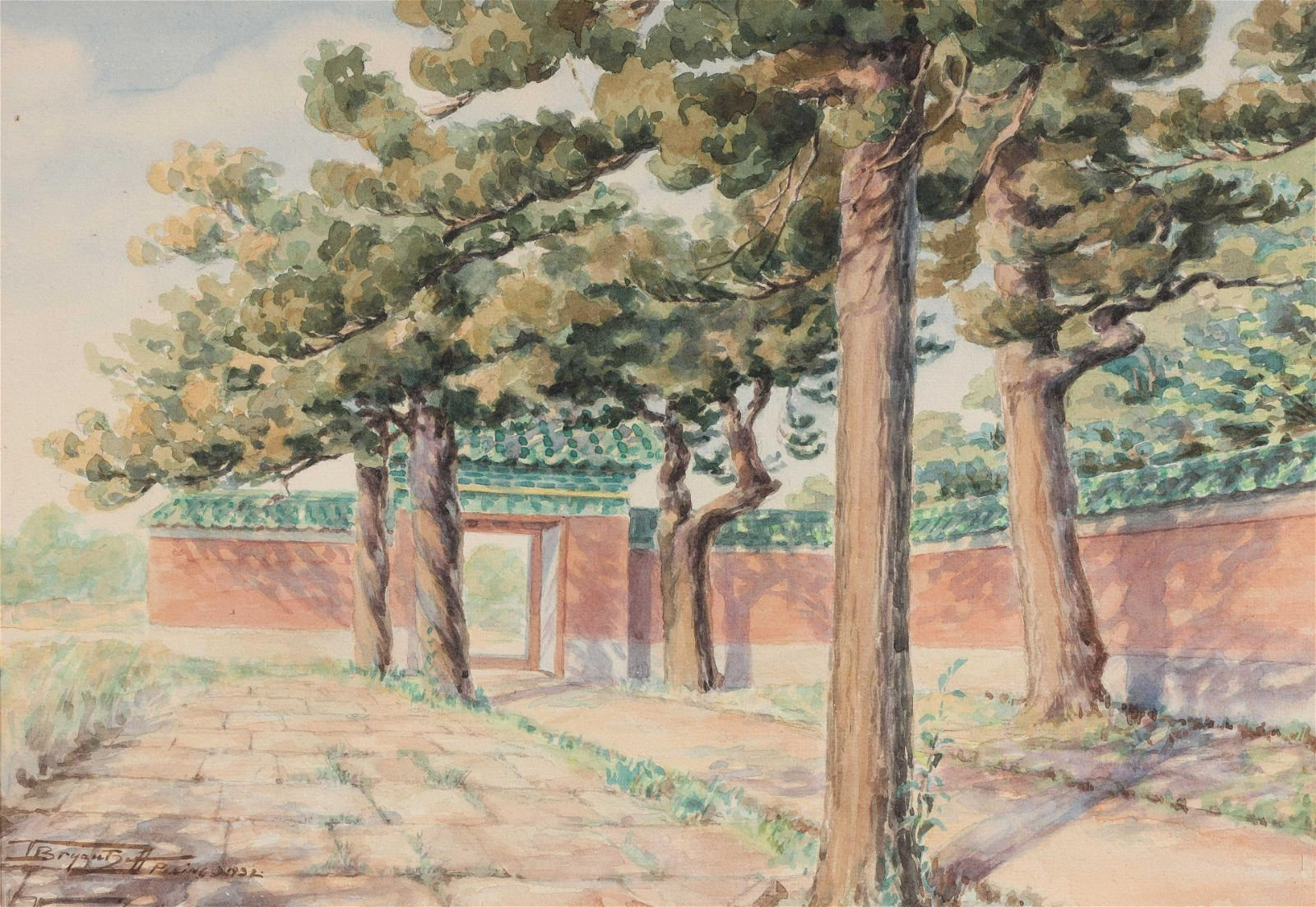 20th Century Chinese Scenic Watercolor Painting
