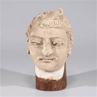 Antique Indian Gandharan Clay Head