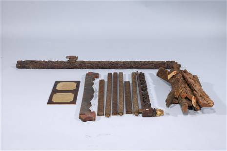 Large Group of Various Japanese Wood Architectural