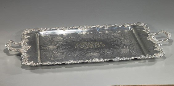 2: Huge Silver-Plated Serving Tray