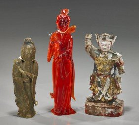 Group Of Three Chinese Figures