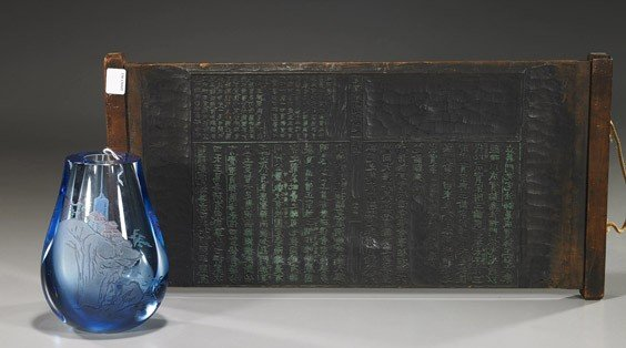 4: Wood Printing Block & Glass Vase