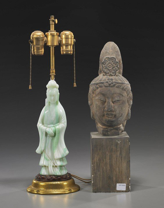 5A: Antique Chinese Beijing Glass Guanyin
