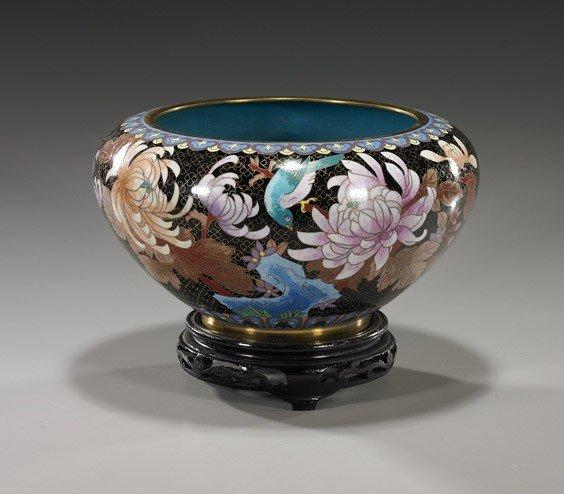 8: Chinese Cloisonné Enamel Bowl
