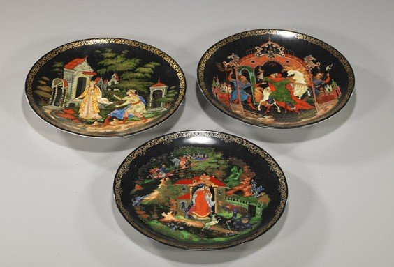 9: Three Russian Collectors' Plates