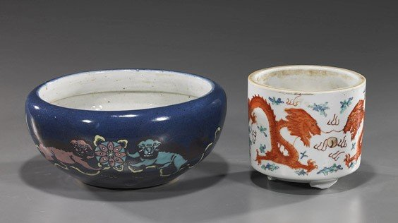 13: Two Antique Chinese Porcelains