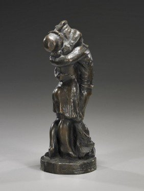 Bronze Sculpture: Figures Embracing