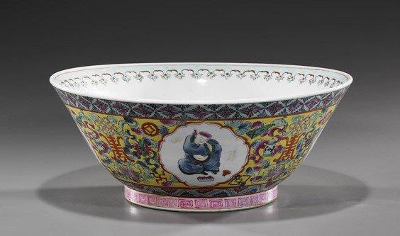 42: Large Chinese Famille Rose Bowl