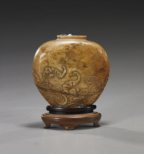 43: Antique Chinese Carved Soapstone Vase