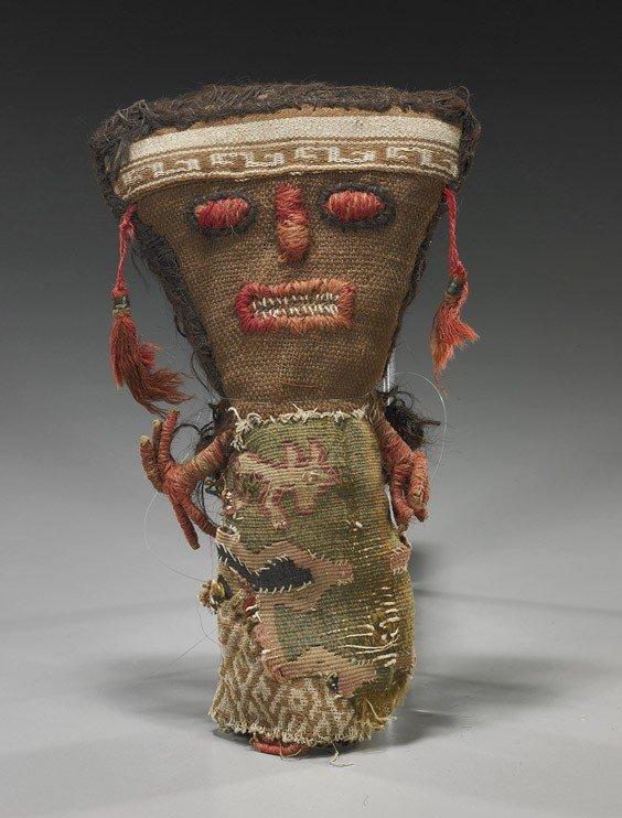 45: Peruvian Pre-Columbian Fabric Doll