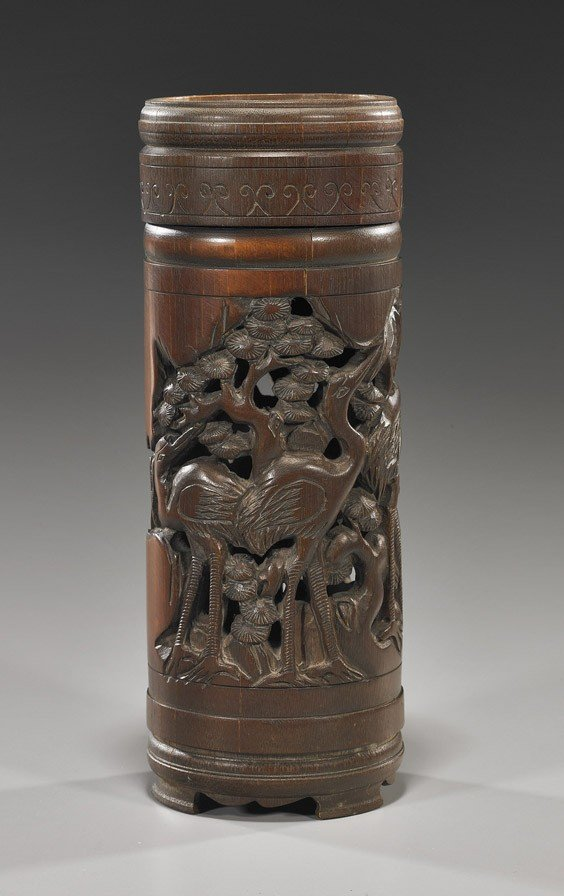 47: Chinese Openwork Bamboo Container