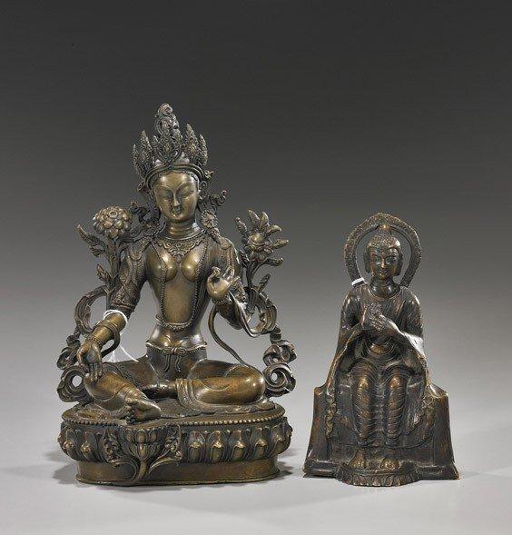 50: Two Various Buddhist Bronze Deities