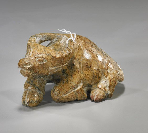 55: Chinese Carved Jade Water Buffalo