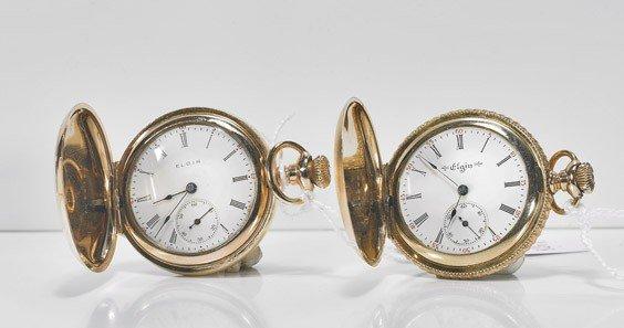 56: Two Ladies' Elgin Pocket Watches