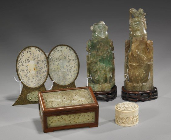 63: Six Various Chinese Carved Items