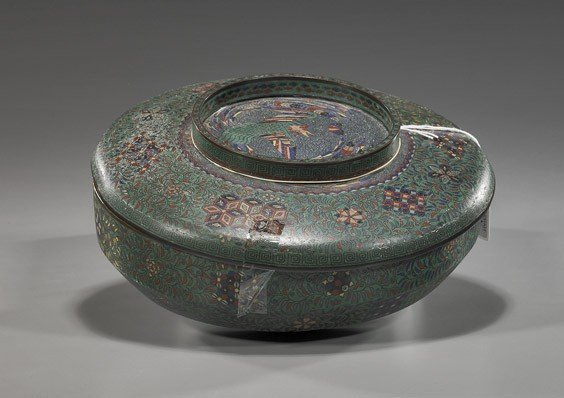 65: Antique Japanese Cloisonné Bowl
