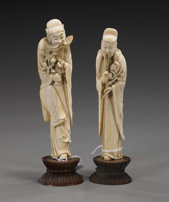 247: Two Chinese Carved Ivory Figures