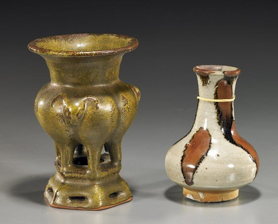 3: Two Chinese Glazed Ceramic Vessels