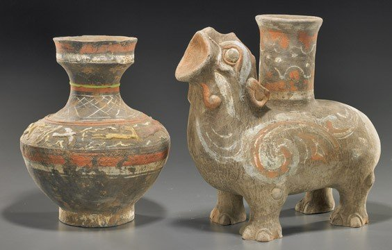 4: Two Chinese Painted Pottery Vessels