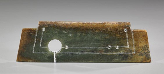 14: Two Archaistic Carved Jade/Harstone Items