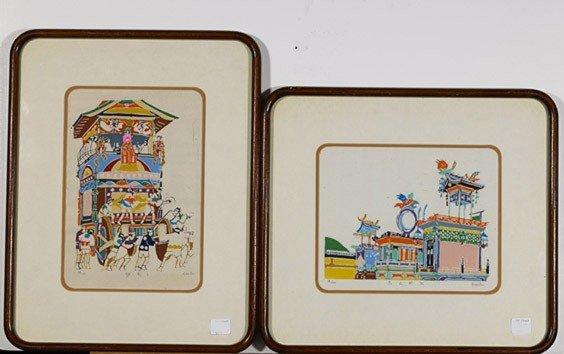 16: Four Various Framed Asian Prints