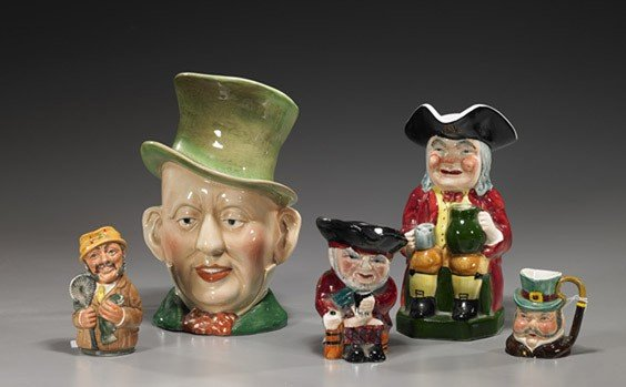 20A: Collection of Figural Porcelain Mugs