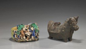 3: Two Chinese Glazed Pottery Vessels