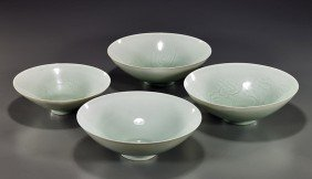 5: Group of Four Chinese Glazed Bowls