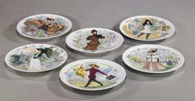 Collection Of 12 Limoges Collectors' Plates