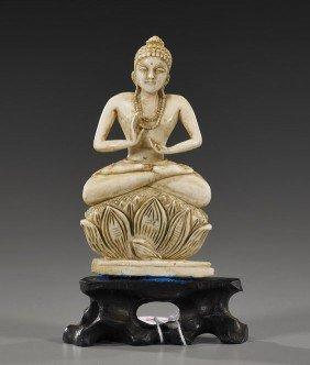 22: Carved Ivory Figure of Seated Buddha