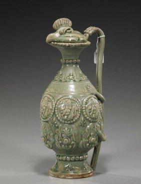 Chinese Glazed Pottery Chicken-Head Ewer