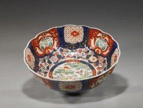 Large Antique Japanese Imari Porcelain Bowl