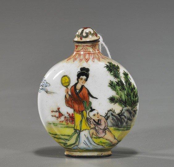73: Chinese Enamel on Copper Snuff Bottle