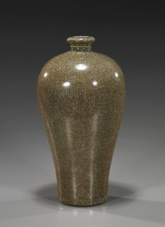 78: Chinese Crackle Glazed Porcelain Meiping
