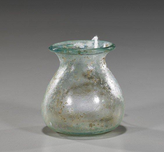 86: Miniature Romano-Egyptian Glass Vessel