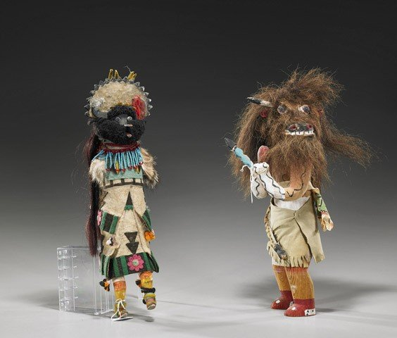 87: Two Native American Carved Wood Dolls