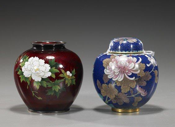 91: Two Asian Cloisonné Enamel Vessels