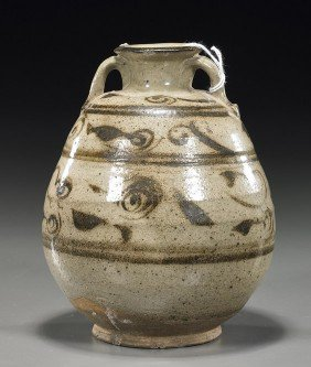 Small Yuan Dynasty Cizhou Meiping Vase