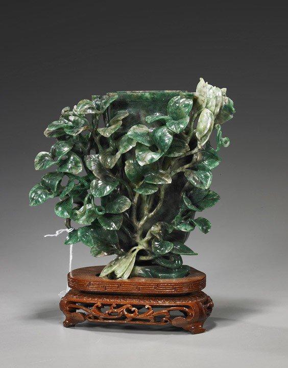 "177: Chinese Carved ""Honan Jade"" Urn"