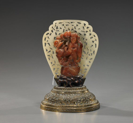 191: Antique Chinese Carved Agate Guanyin
