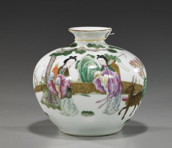 200: Chinese Famille Rose Porcelain Meiping
