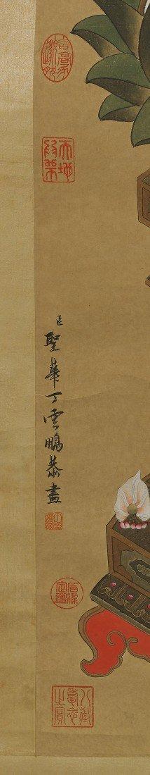 563: Chinese Paper Scroll: Colorful Buddha - 3