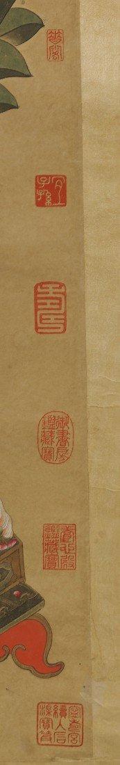 563: Chinese Paper Scroll: Colorful Buddha - 4